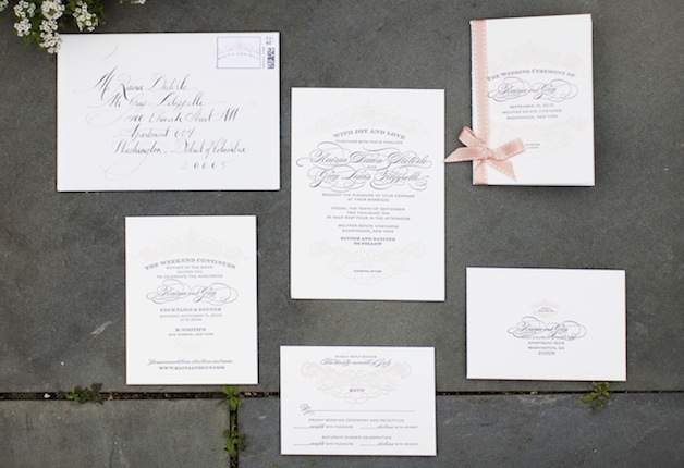 wedding invitations - wedding stationery suites - inside weddings, Wedding invitations