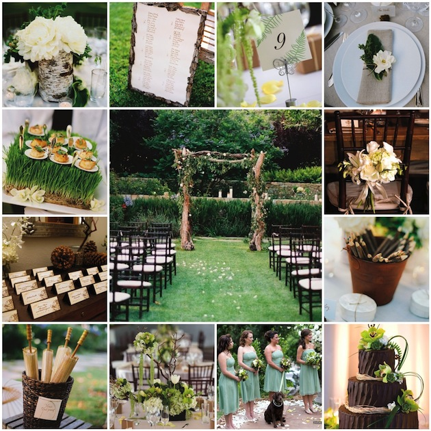 Nature wedding themes inside weddings photo credits melissa plantz photography escort cards flower detail on chair back jose villa photography hors doeuvres cedar centerpiece junglespirit Image collections