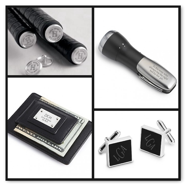 Personalized attendant gifts bridesmaid gifts groomsmen gifts things remembered black matte cuff links with free weave texture valet box 3000 things remembered black leather money clip with card holder reheart Image collections