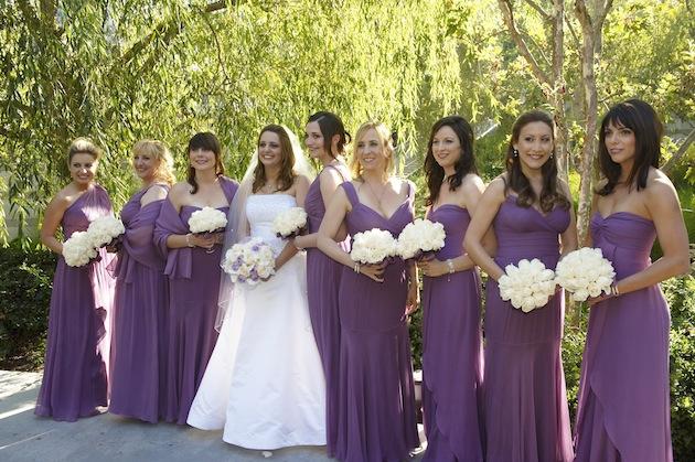 Purple Bridesmaid Dresses Inside Weddings