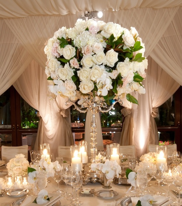 White wedding centerpieces wedding flowers inside weddings for Floral arrangements for wedding reception centerpieces
