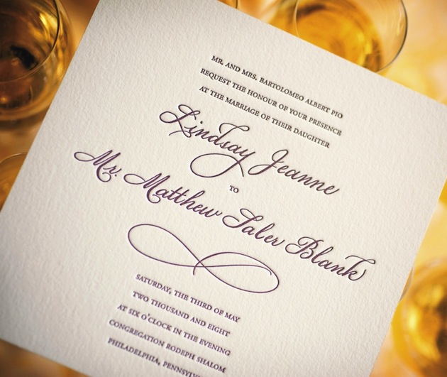 wedding invitations - wedding invitation wording - inside weddings, Wedding invitations