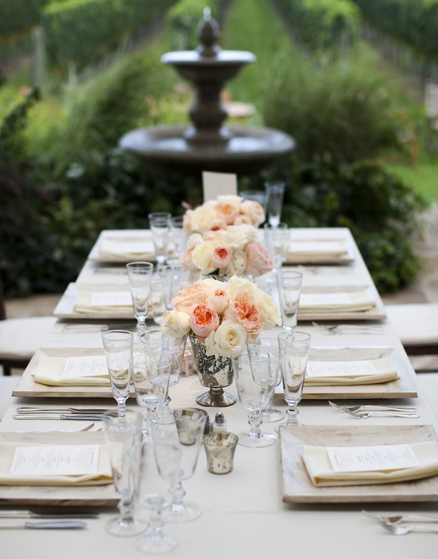 Wedding reception ideas reception tables inside weddings the glam factor of long reception tables junglespirit Image collections