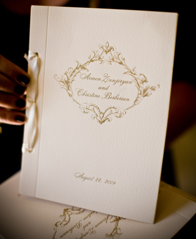 Wedding Brochure Ideas: Wedding Program Trends