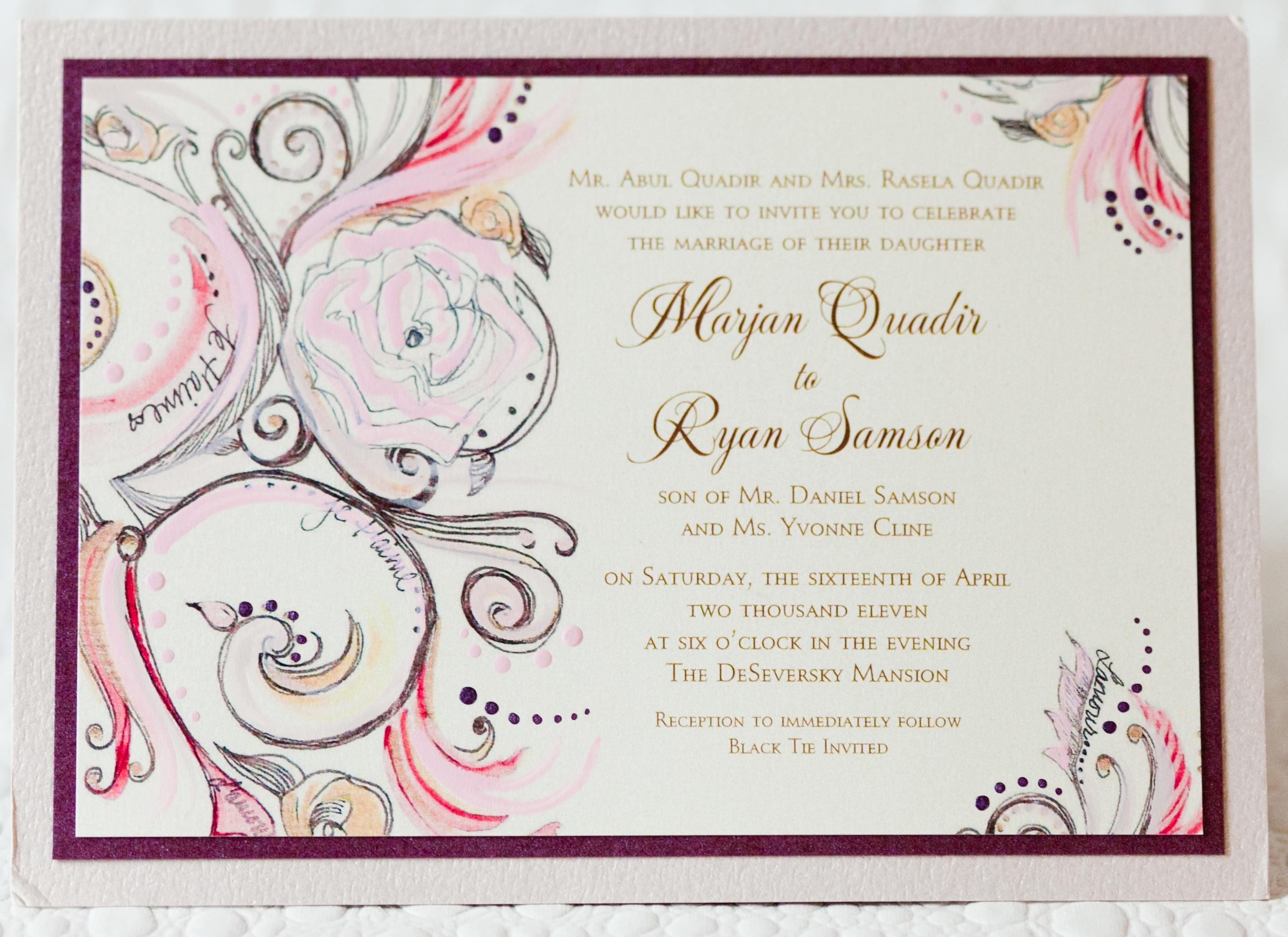 Wedding Invitations Wedding Invitation Wording Inside Weddings