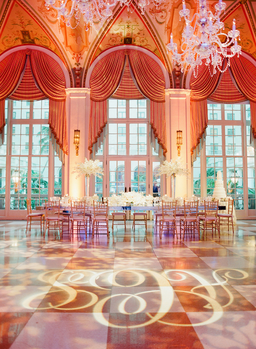 The Breakers Wedding Reception with Gobo