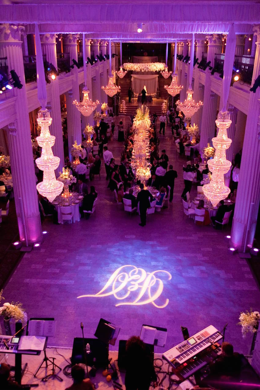 Purple Ballroom Wedding Reception