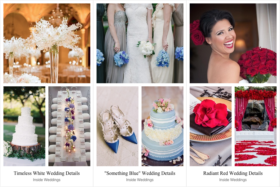 Wedding Ideas: Red, White & Blue Color Palettes - Inside Weddings