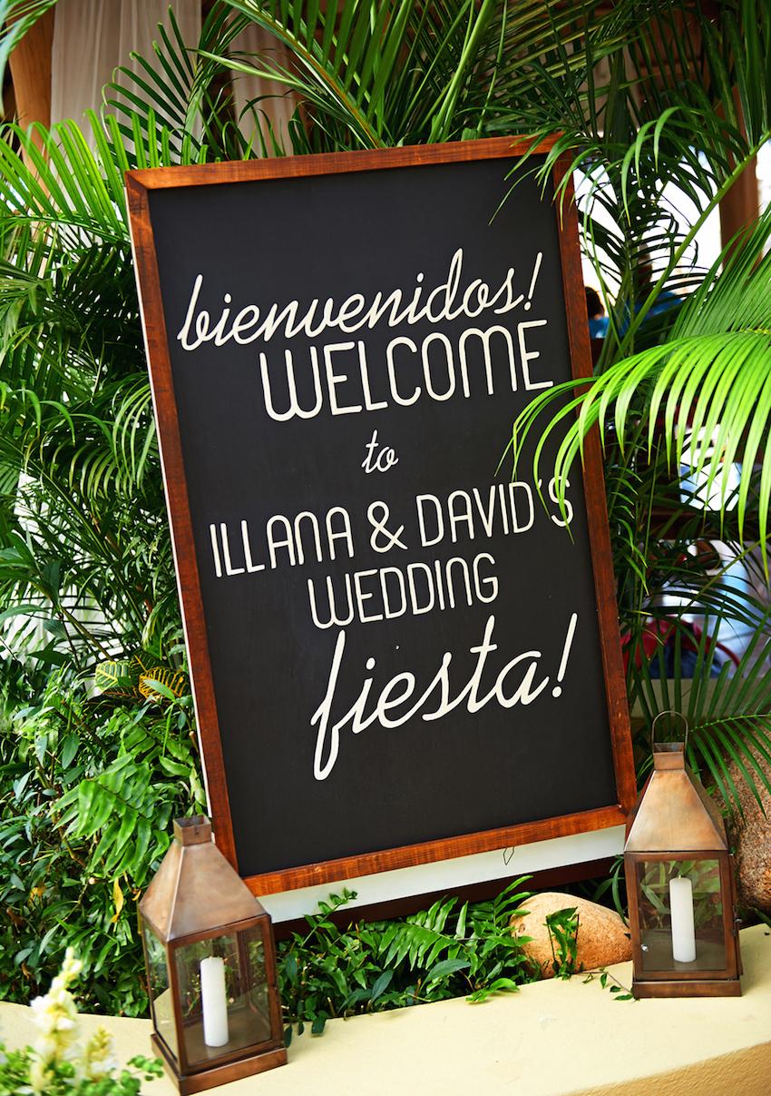 Mexico destination wedding chalkboard sign