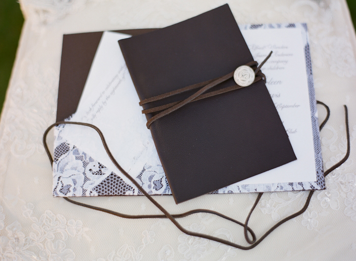 Unique Wedding Invitations with Unconventional Materials Inside