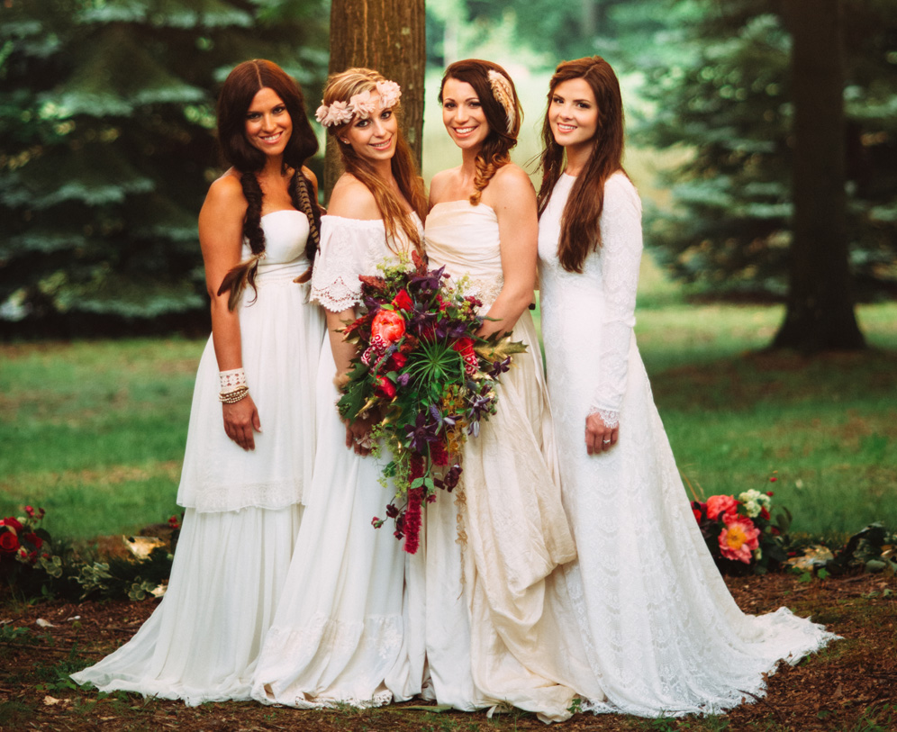 Boho wedding ideas for nature inspired celebrations for Nature inspired wedding dresses