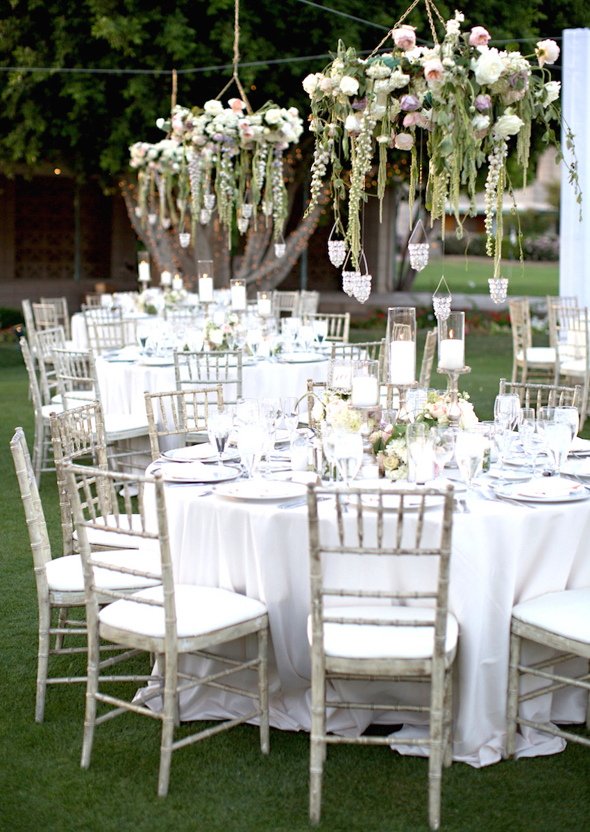 Luxury Wedding Ideas: Chandeliers with Fresh Flowers - Inside Weddings