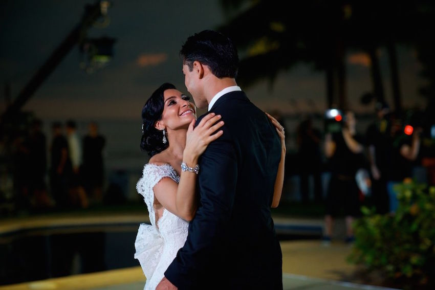 Courtney Mazza and Mario Lopez first dance