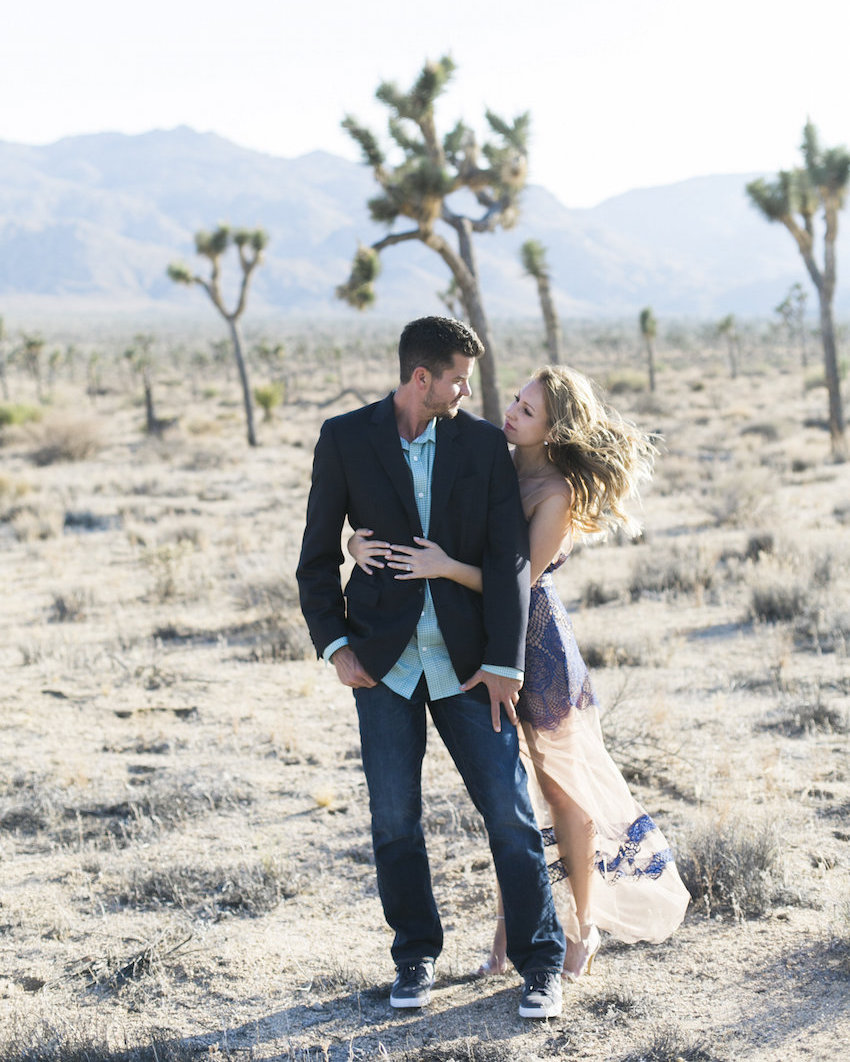 Engagement photo in Joshua Tree National Park