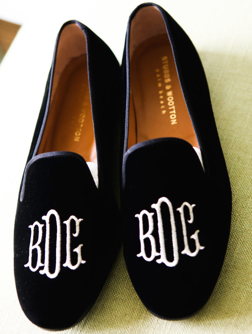 NHL Brandon Dubinsky monogram wedding shoes