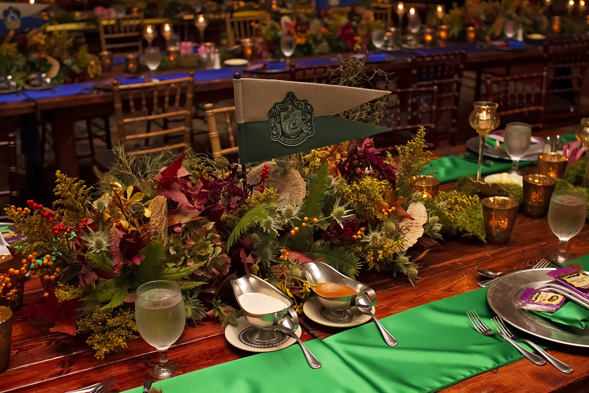 slytherin wedding reception table