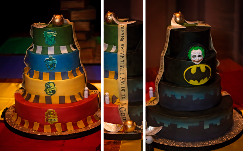 harry potter batman cake