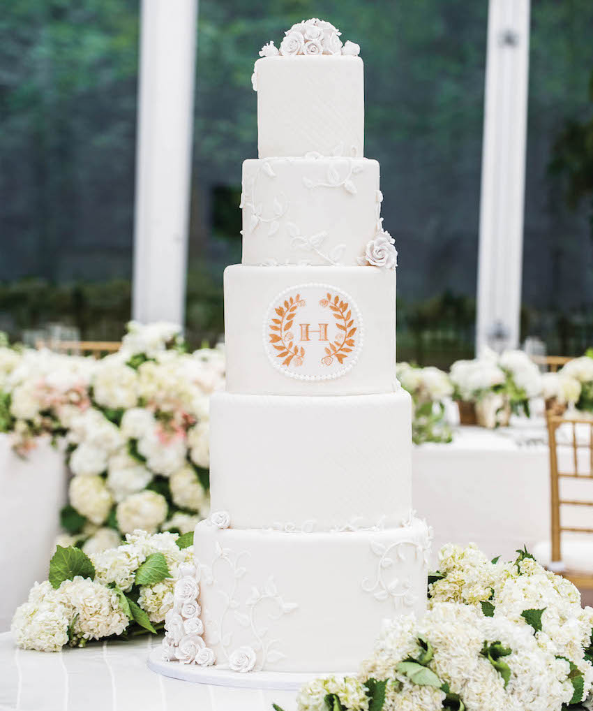 cakes for weddings monogram wedding decorations amp ideas inside weddings 2372
