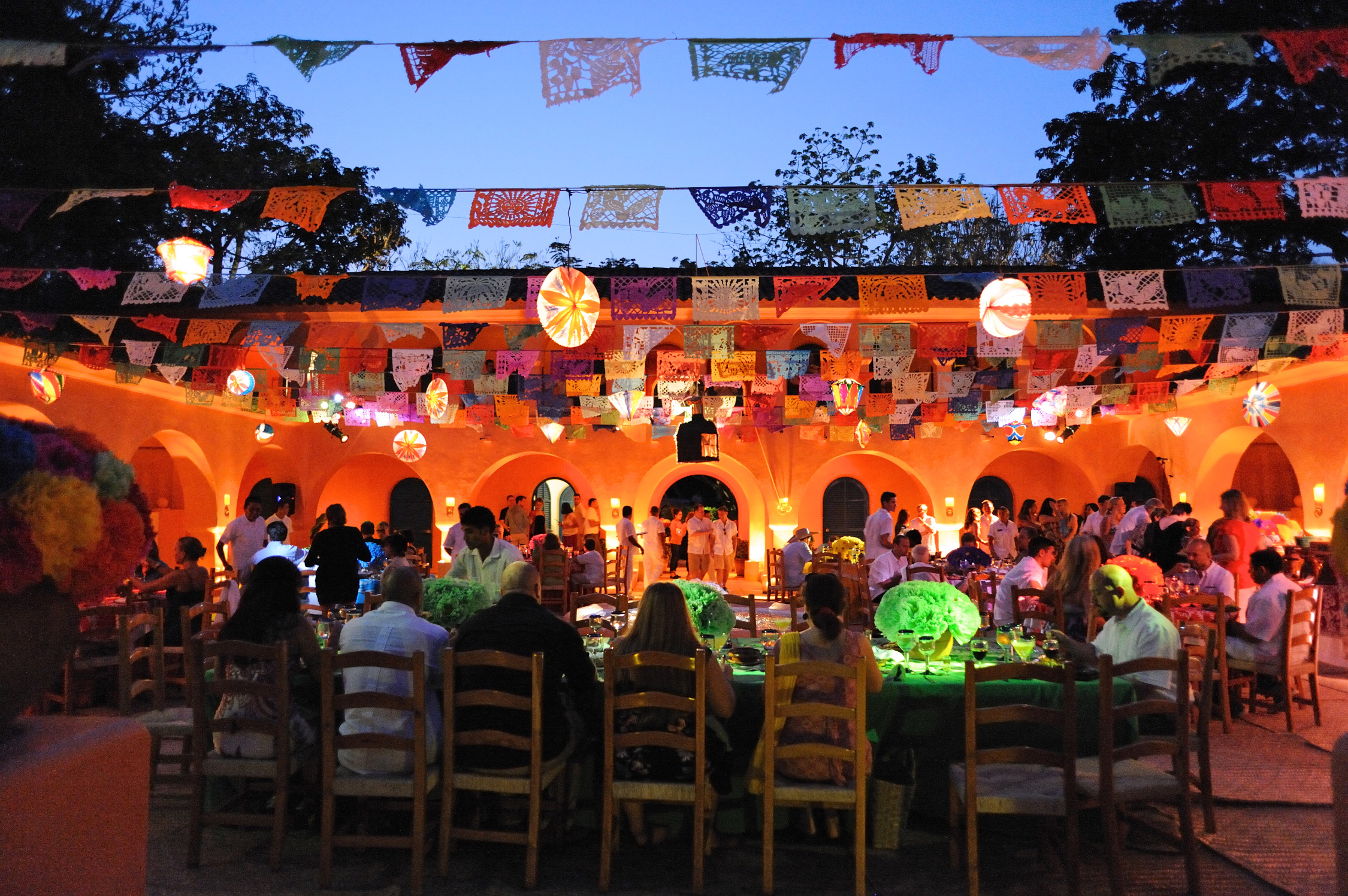 mexican courtyard party