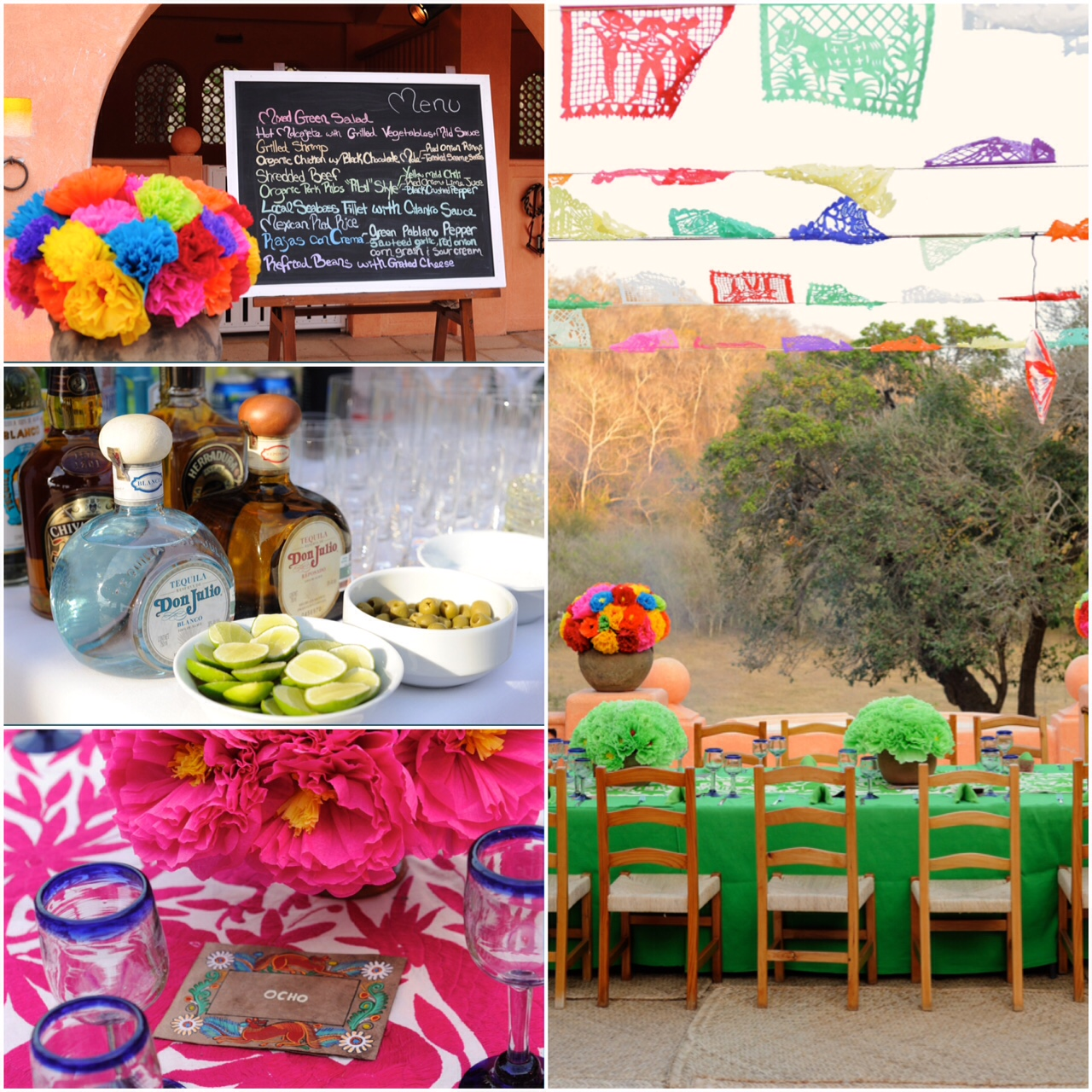 colorful mexican rehearsal dinner