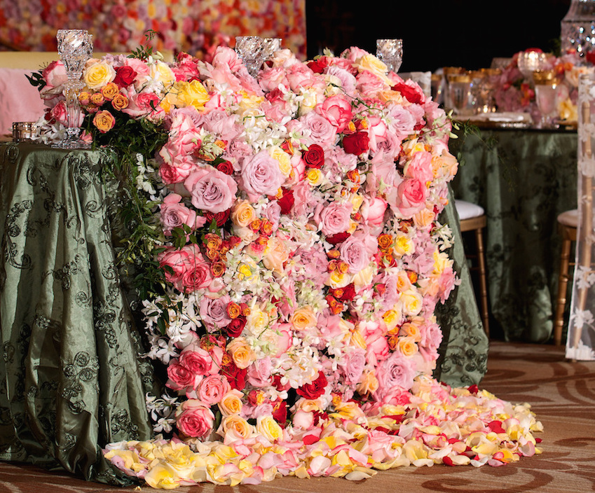 Pink And Red Sweetheart Table Flower Overflow