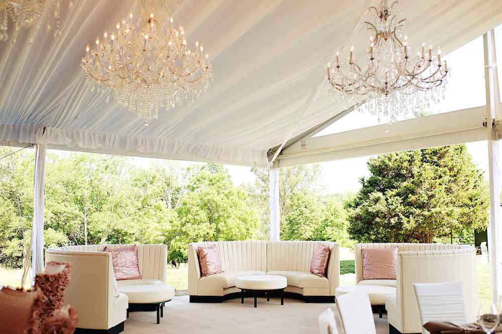 White Tent Wedding Lounge Area