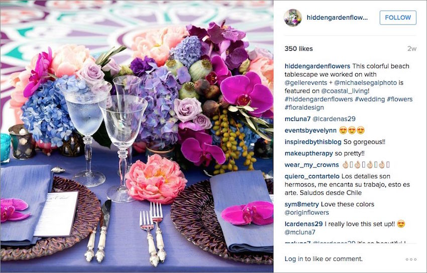 Wedding instagram inspiration from planners for Garden design instagram