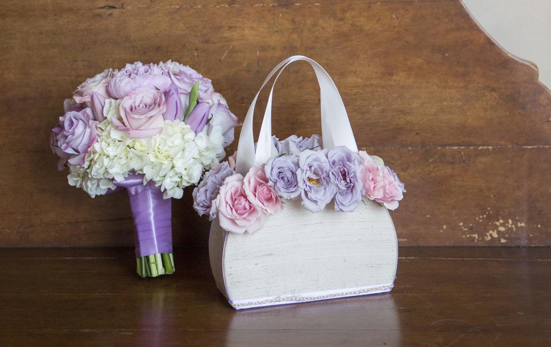 wooden flower girl purse