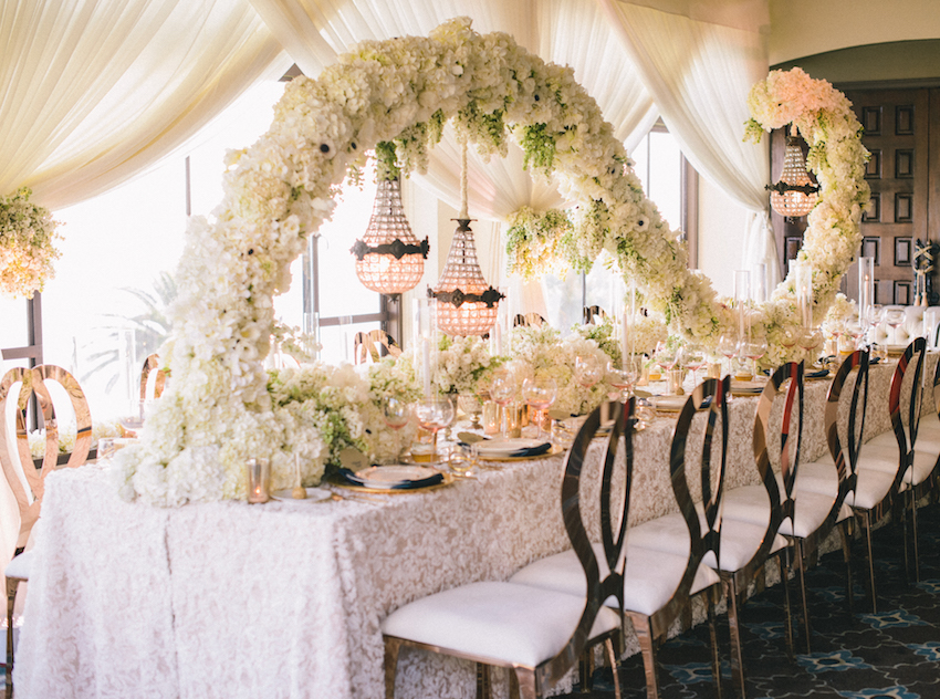 Wedding Design Ideas for Both Bare and Covered Reception Tables ...