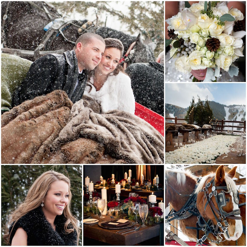 Couple S Wedding Ceremony And Reception Held At The Beach: Winter Wedding Ideas From Real Weddings