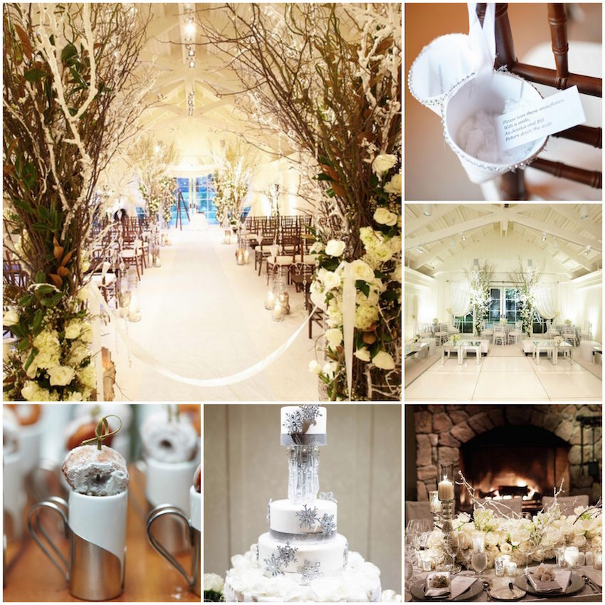 Winter wedding ideas from real weddings inside weddings white winter wedding ideas junglespirit Image collections