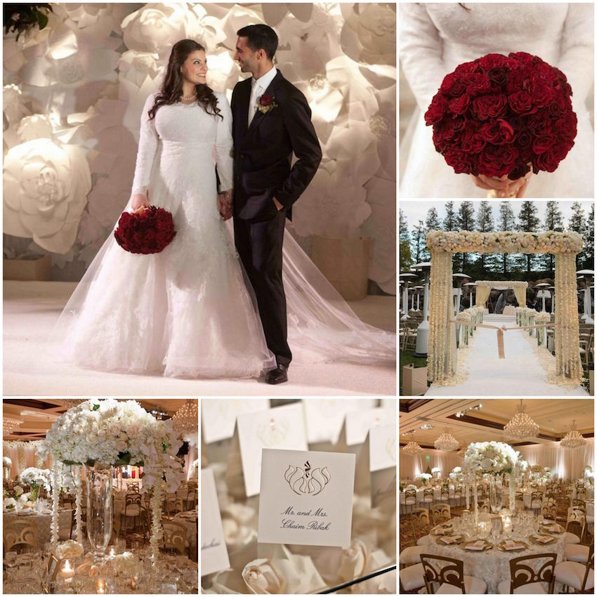 Winter wedding ideas from real weddings inside weddings white and red winter wedding ideas junglespirit