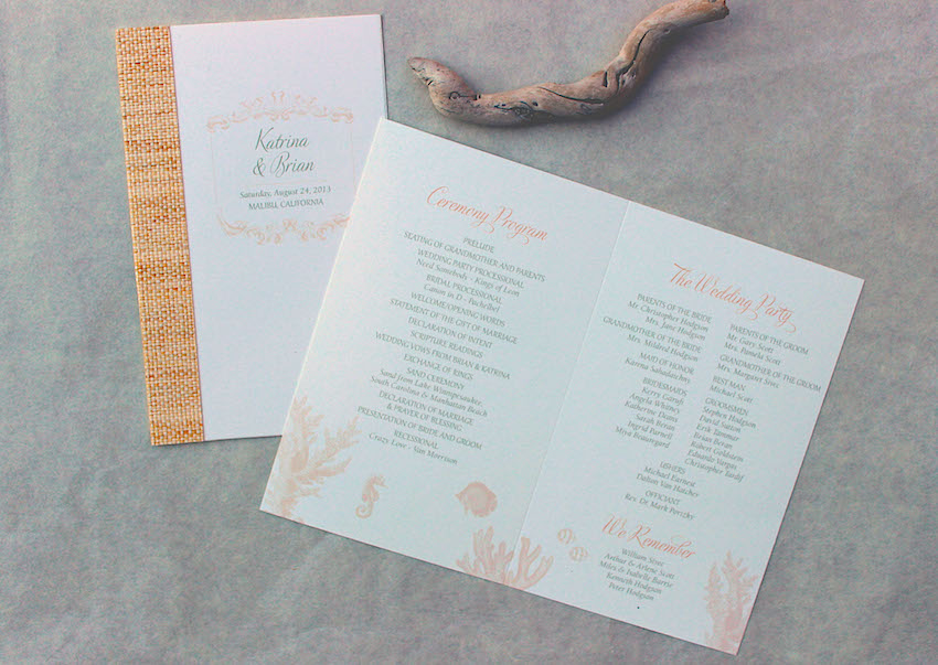 wedding programs what to include in your ceremony program inside