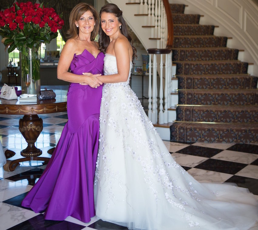 Purple mother of bride dress