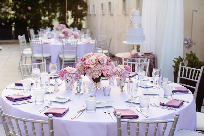 Wedding color palettes purple dcor inside weddings lavender light purple wedding table junglespirit