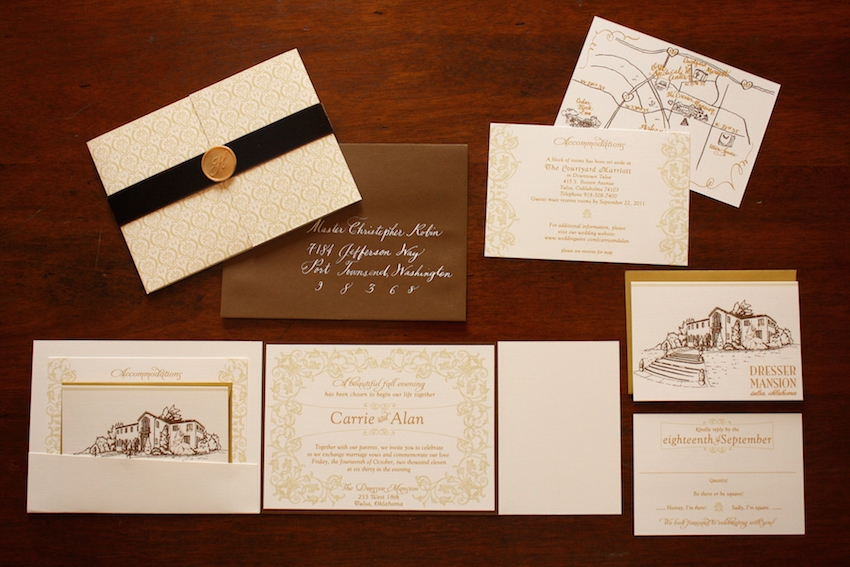 Zenadia Design Fall Wedding Invitation Suite
