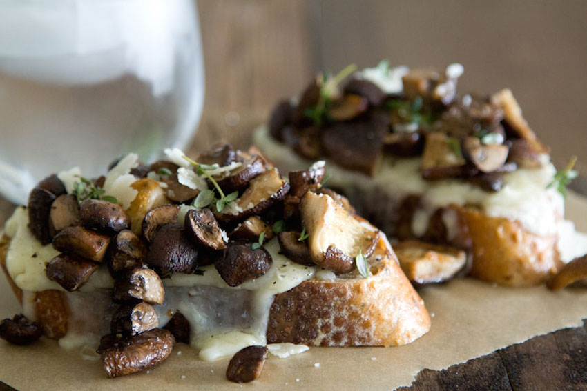 What's Gaby Cooking mushroom toasts