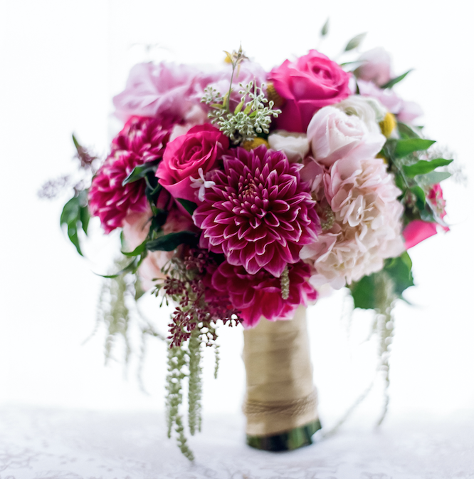 Fall flower bouquets for festive autumn weddings inside weddings pink fall flower wedding bouquet the hidden garden junglespirit Choice Image