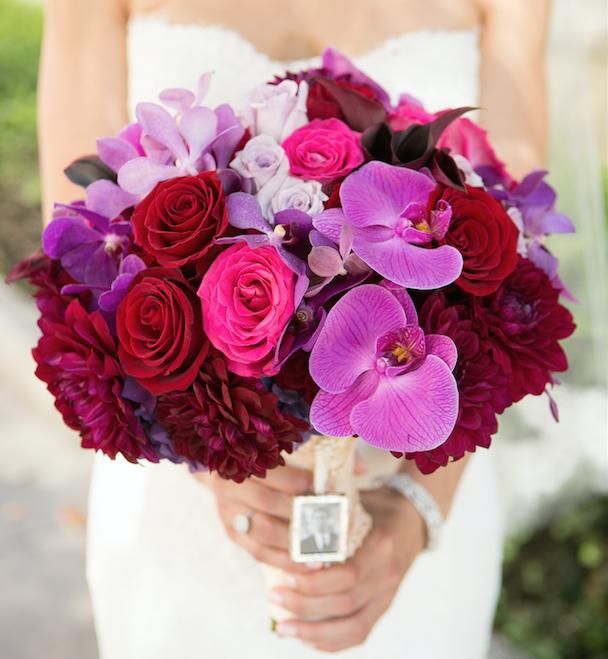 Fall flower bouquets for festive autumn weddings inside weddings pink orchid fall flower bouquet vibrant mightylinksfo