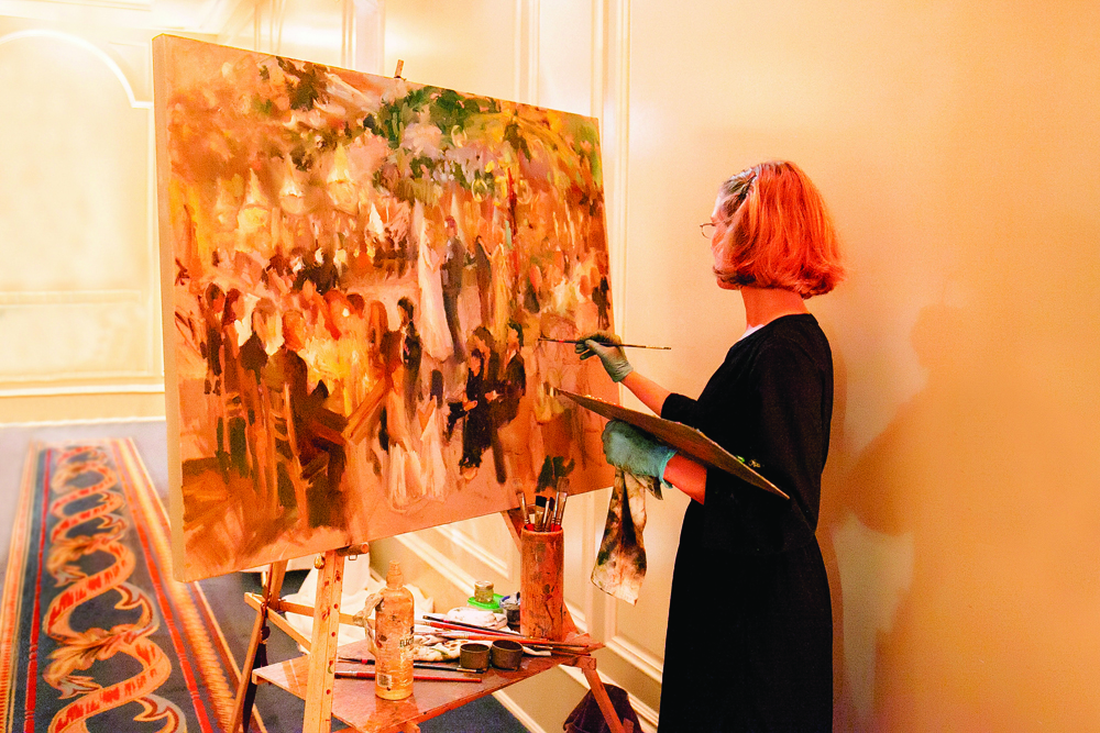 reception event painter
