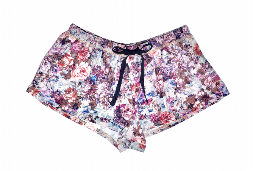 Alexis Mera Flower Print Breast Cancer Awareness Shorts