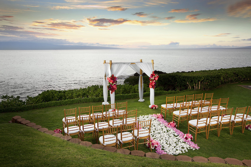 kaanapali point wedding at sunset sheraton maui