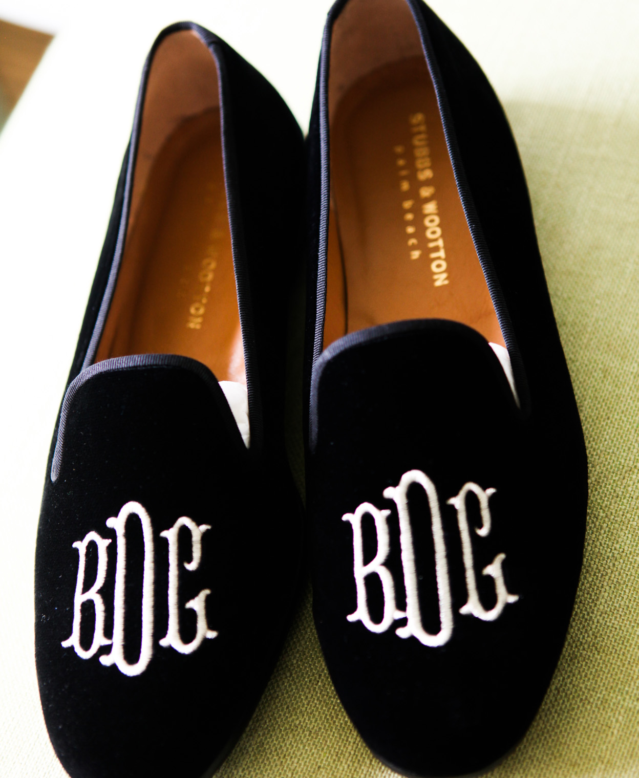 monogram slippers