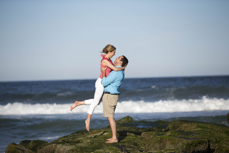 Engagement Session on Ocean Rocks