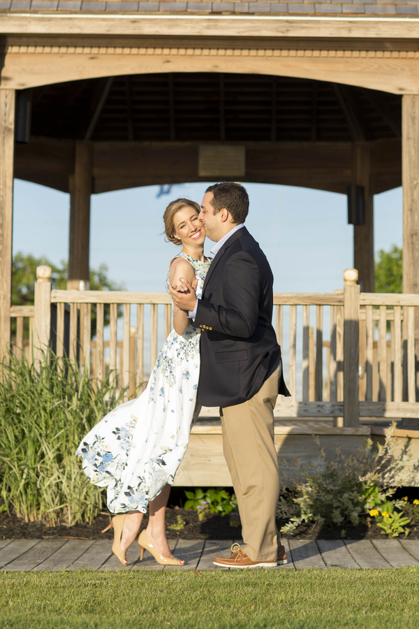 East Coast Engagement Session in Flower Print Dress