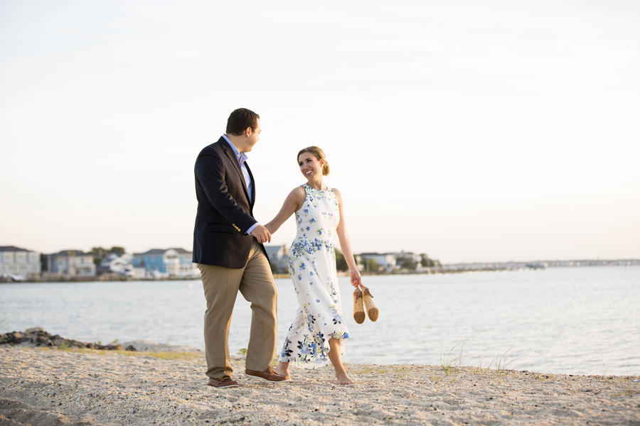 Beach engagement session in New Jersey