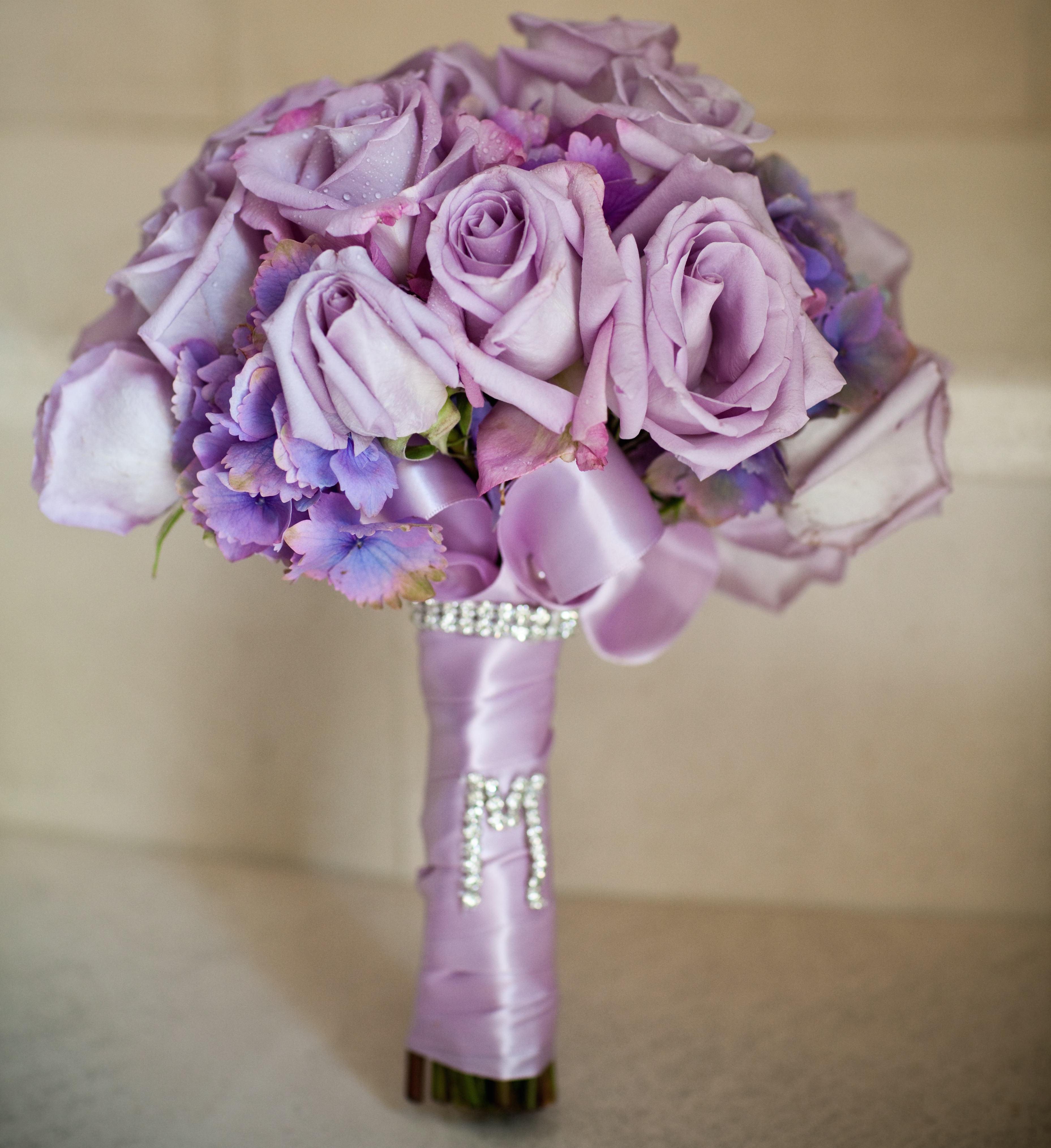 Light Purple Rose Wedding Bouquet