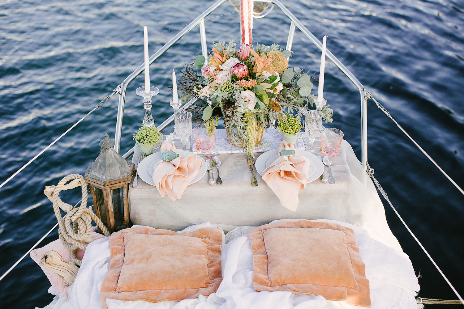 Wedding styled shoot on sailboat