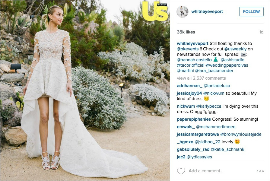 Whitney Port\'s Wedding Dress: Get the High-Low Look - Inside Weddings