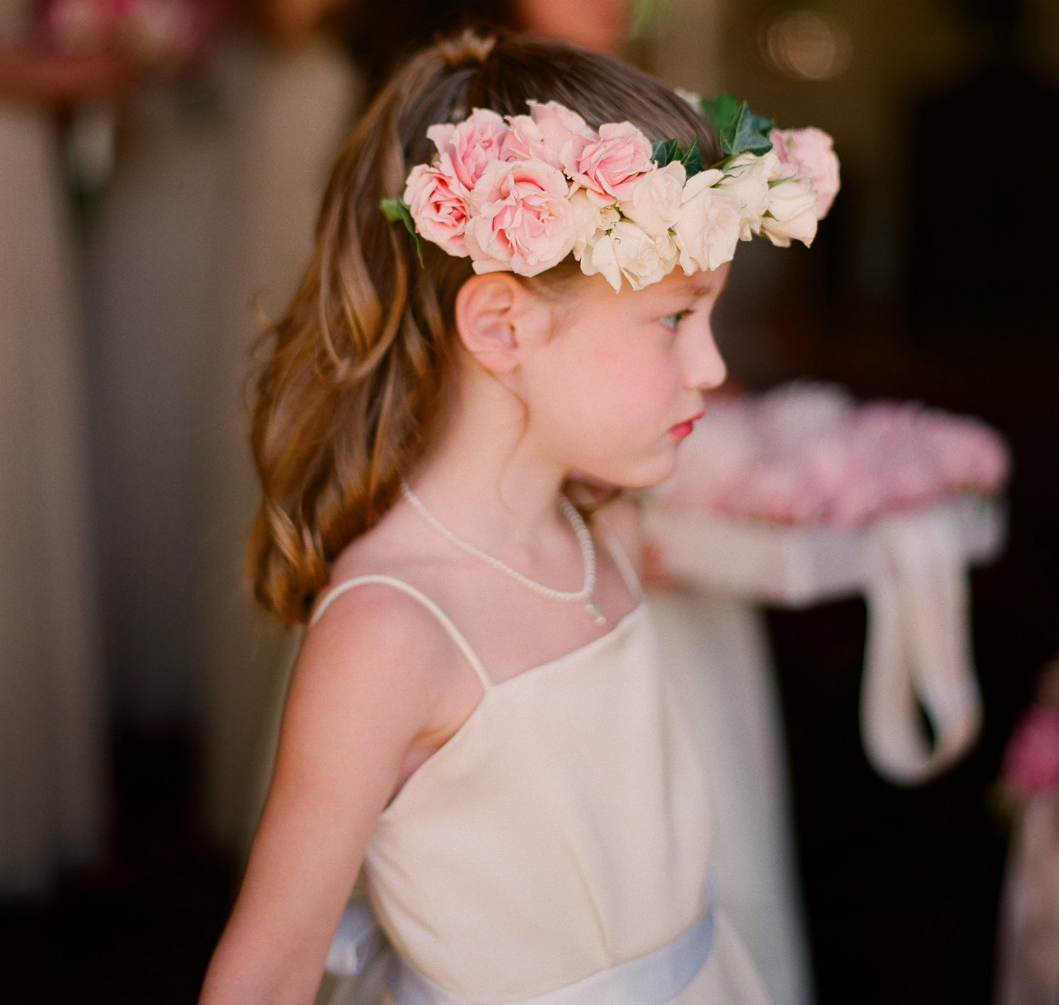 Flower girl style 15 flower crowns to complete her look inside pink flower crown izmirmasajfo